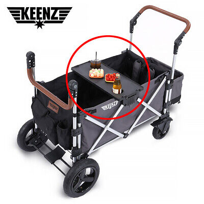 Detachable Solid Folding Snack Tray Table Cup Holder for Keenz 7s Stroller Wagon