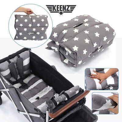 Keenz 7s Folding Stroller Wagon Double-sided Waterproof Mat Cushion 100% Cotton