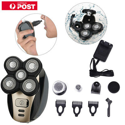 Men's 5IN1 Electric Shaver Rechargeable Cordless Skull Head Clipper Trimmer - AU