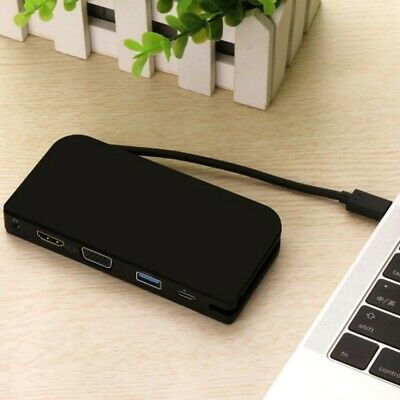 1 * Usb 3.0 Adapter Unitek Laptop Docking Station Dual Monitor Hdmi Dvi/Vga AU