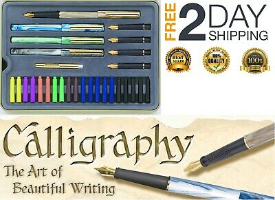 Calligraphy Pen Set Starter Kit Letters Ink Cartridge Practice With Pad Included