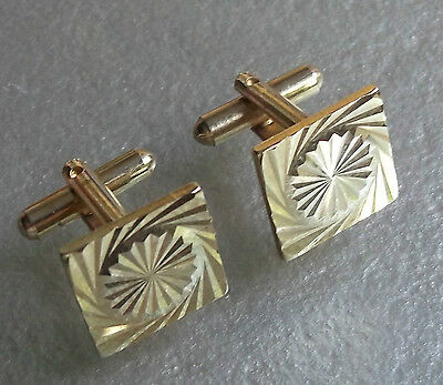 Cufflinks Vintage Mens Cuff Links 1960s 1970s MOD GOLDTONE PSYCHEDELIC