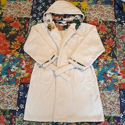 Ted Baker Age 6-7 Girls Hooded Robe Dressing Gown Oil Painting Hood Lining/Trim
