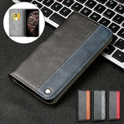 For iPhone 11 Pro Max XR 8+ 7 6s Case Retro Leather Flip Magnetic Wallet Cover