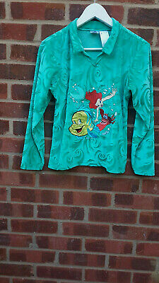 Vintage The Disney Store Turquoise Ariel Little Mermaid Top age 11-12 years