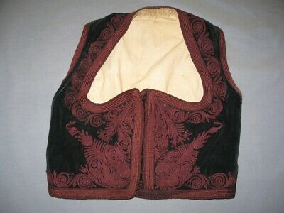 Antique Old Folk Ethno Traditional Handmade Serbian Women's Vest EMBROIDERY !