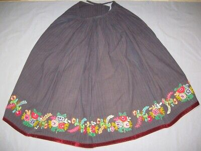 Antique Old Authentc Ethno Handwoven Folk Traditional Embroidery Skirt