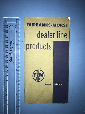 Vintage Fairbanks Morse Dealer Products Catalog Farm Home Water Pump Well Sytem