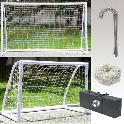 Portable Durable Kids Football Soccer Goal Post Net And Bag Outdoor Play Sports