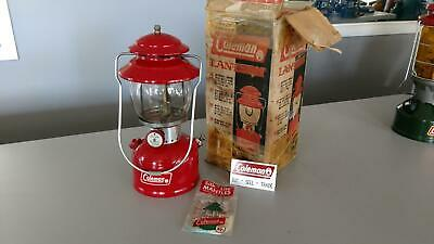 coleman lantern 200a No chips in vent 1/1968 bright red with box