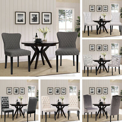 Styling Upholstery Chairs Dining Room Chair Reception Seat Blk Walnut Wood Legs