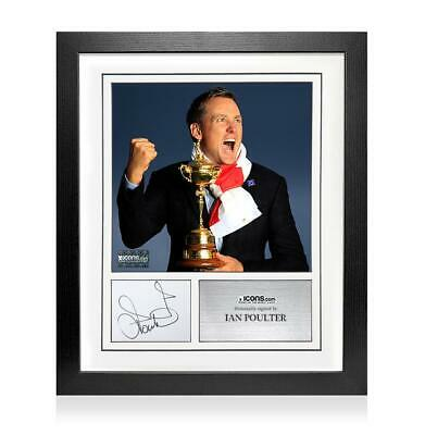 Ian Poulter Signed Card and Photo Frame - Option 1 Autograph