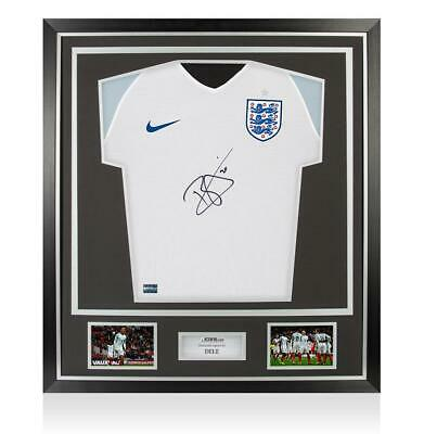 Dele Alli Front Signed England 2016 Home Shirt In Classic Frame Autograph