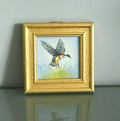 Duck Bird Framed Original Oil Painting Hunting Landscape Wildlife Nature Country