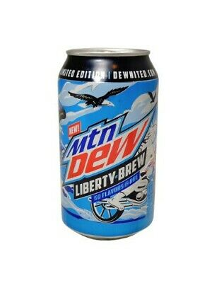Mountain Dew 2019 Limited Edition — Lot Of 4 12oz Cans — Liberty Brew & Voodew