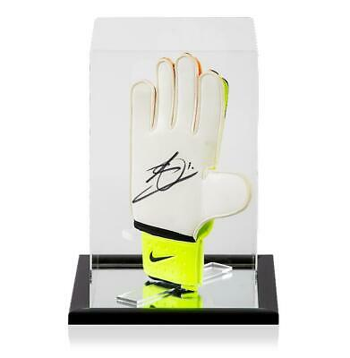 Jack Butland Official England Signed Lime and Orange Nike Goalkeeper Glove In Ac