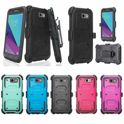 Samsung Galaxy J7 Sky Pro, J7 2017, Holster Built-in Screen Protector Case Cover