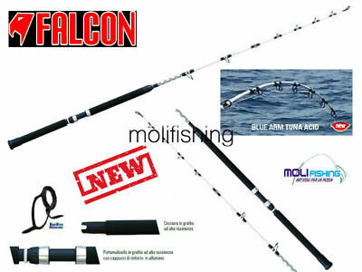 16//20 LBS PER UTLIZZO MONEL CANNA DA PESCA A TRAINA FALCON BLUE ARM MONEL 6/'6/""