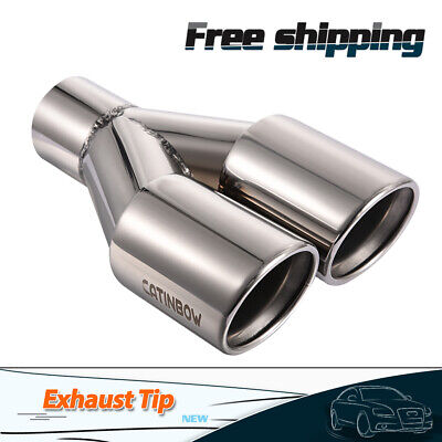 "Heart Shaped Exhaust Tip Rolled Edage 1.9/"" Inlet 6/"" Long 304 Stainless Steel"