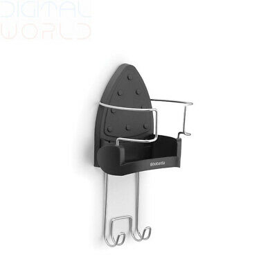 Brabantia Ironing Board Hanger and Iron Store - Black 20 x 8 x 6 cm,