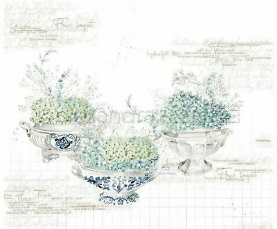 One-sided Scrapbook Paper (1pc) Hydrangeas In Bowls 30 30 Nature Paper Sheets...