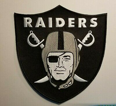 "Oakland /Las Vegas Raiders HUGE 8"" Iron or Sew On Embroidered Patch ~US Seller~"