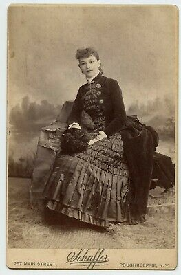 Young Lady in Black Vintage Photo by Schaffer , Poughkeepsie N.Y.