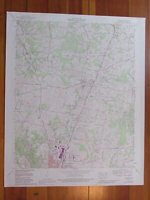 Ethridge Tennessee 1989 Original Vintage USGS Topo Map