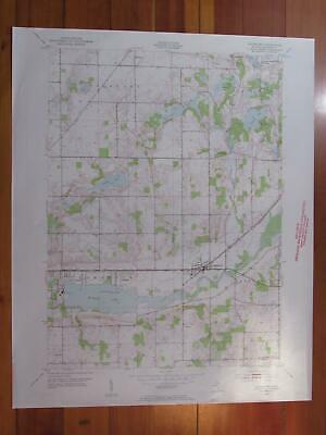 Galesburg Michigan 1955 Original Vintage USGS Topo Map