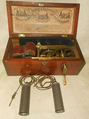 Antique Davis & Kidder's Patent Magneto Electric Machine for Nervous Diseases