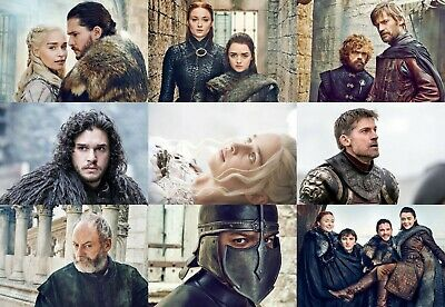 Set of 9 Game of Thrones Movie Characters Postcards Photo Souvenir NEW