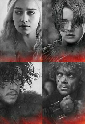 Set of 4 Game of Thrones Movie Characters Postcards Photo Art Souvenir NEW
