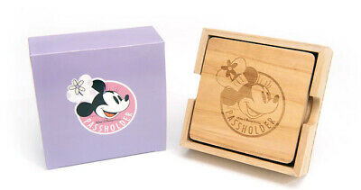 Disney Annual Passholder AP 2019 Epcot Food & Wine Minnie Mouse Wood Coasters