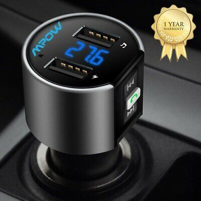Bluetooth In-Car Wireless FM Transmitter MP3 Radio Adapter Car Kit For iPhone 11