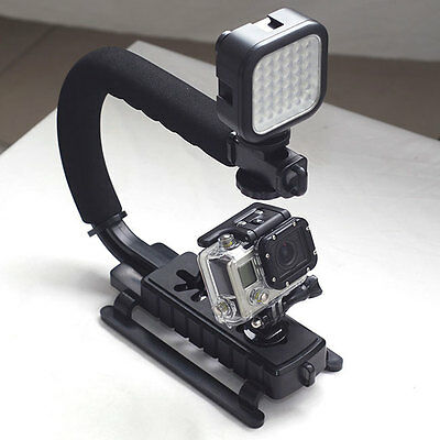 Stabilizing Handle with Portable Mini LED Light for GoPro Hero 3