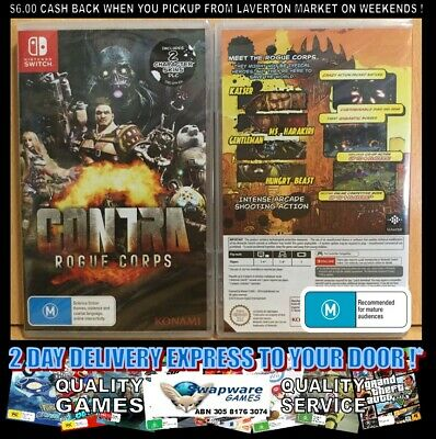 Contra Rogue Corps Nintendo Switch AUS SEALED FREE EXPRESS