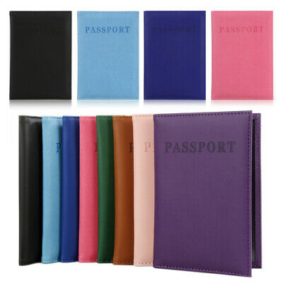 Travel Pu Leather Passport ID Card Cover Holder Case Protector Organizer wallet