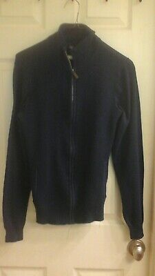 Kenneth Cole Light Gray Full Zip Knitted Men/'s Sweater Size XS S  M L XL