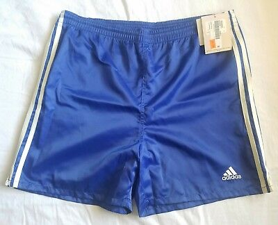 Vtg Adidas Lisbon Glanz Nylon Shiny Satin Soccer Shorts New With Tags Small
