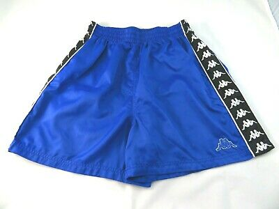 Vintage Kappa Soccer Shorts Ribbon Satin Blue Size Small