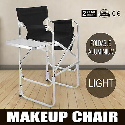 Folding Makeup Artist Tall Director Chair Hairstylist Aluminum Alloy Party Event