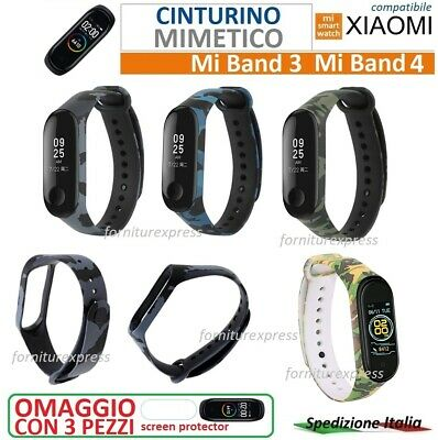 ⭐⭐ ⭐Cinturino Morbido Mimetico Per Xiaomi Mi Band 3 4 Smart Watch ⭐⭐⭐