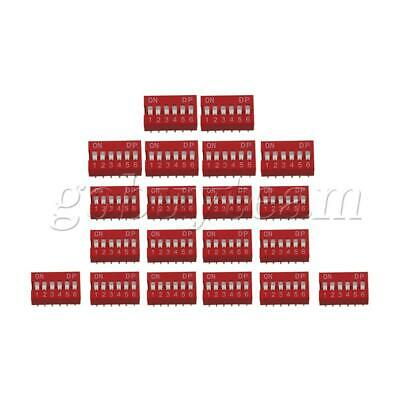 1.7x10MM DIP-6P DIL Toggle Switch for All PCB Project 25mA 24V Set of 20