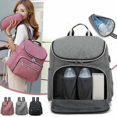 Luxury Multifunctional Baby Nappy Diaper Backpack Travel Changing Bag Mummy Bag
