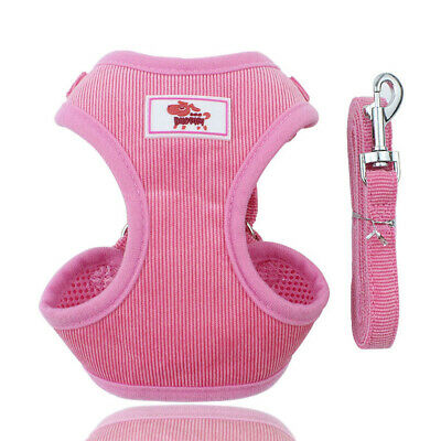Soft Mesh Small Dog Harness Step-in Puppy Harness Leash Set Pet Jacket Vest BRAU