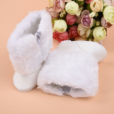 Cute White Boot Shoes For 18 Inch Doll Party Clothing For Kid X7C7