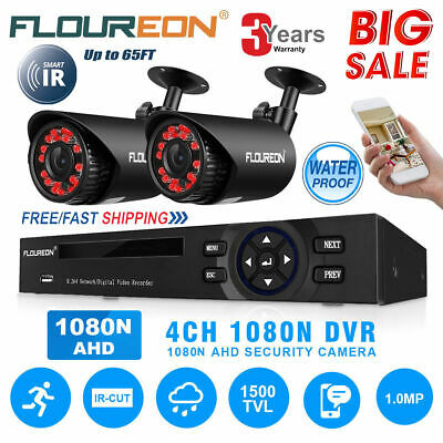 Floureon 8CH 1080P AHD CCTV DVR 1500TVL 720P Night Vision Camera Security System