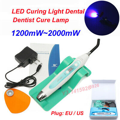 1200~2000mW LED Curing Light Dental Wired & Wireless Cordless Dentist Cure Lamp