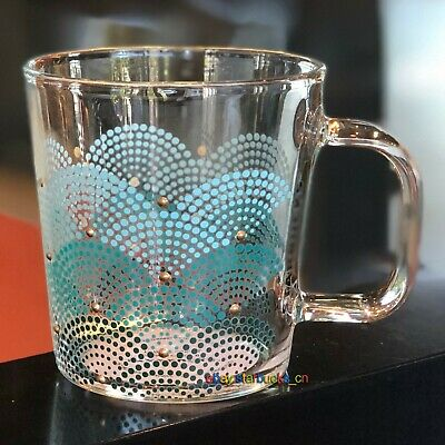 Starbucks Glass Cup 2019 China Anniversary Scale Gradation 12oz