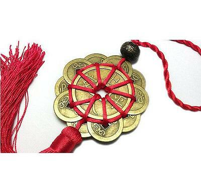 Feng Shui Chinese Coins Coin for good Luck PROSPERITY PROTECTION Charm Tassel ^F